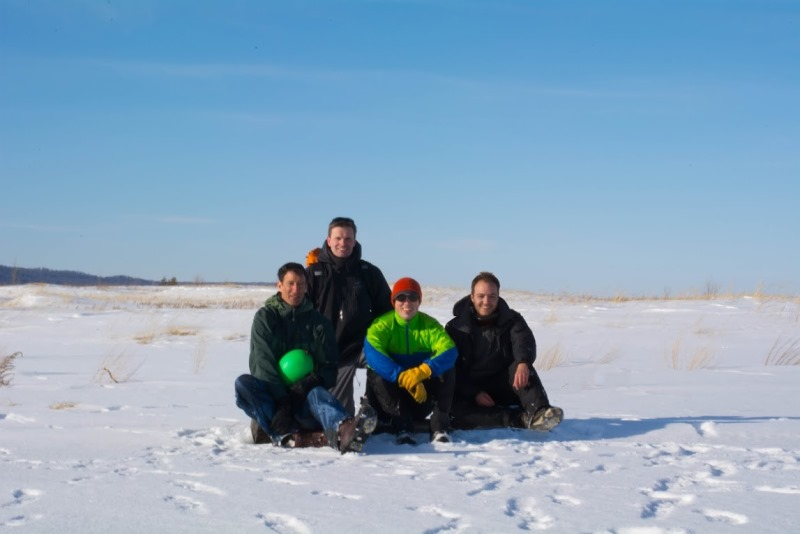 After a successful hike to North Manitou Island, we posed for a group photo.