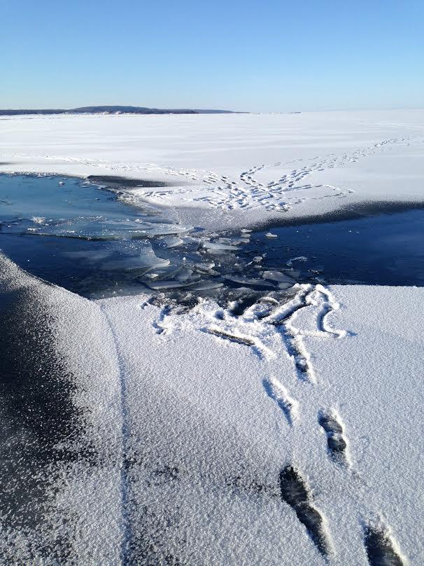 Broken ice on Lake Michigan