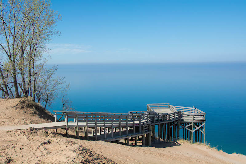 The magnificent Lake Michigan Overlook