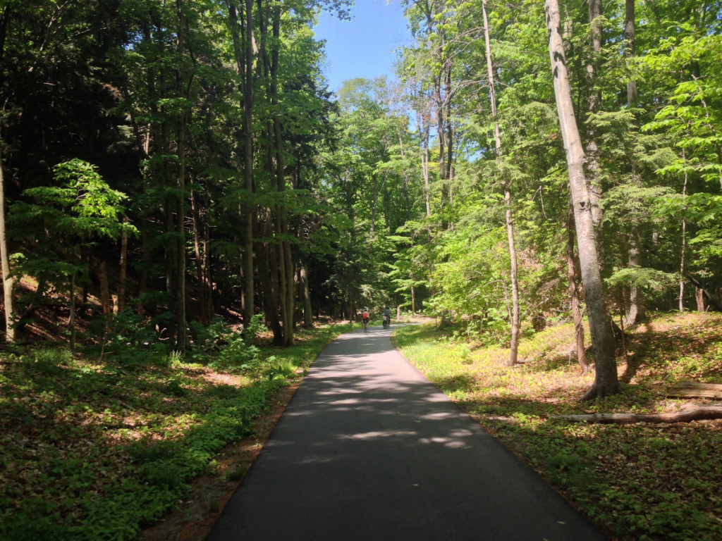 Riding the Sleeping Bear Heritage Trail between Glen Arbor and the Dune Climb