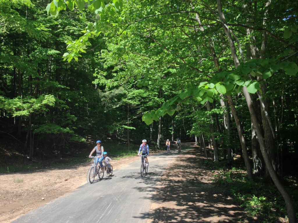 Riding along the early stages of the new extension to the Sleeping Bear Heritage Trail.