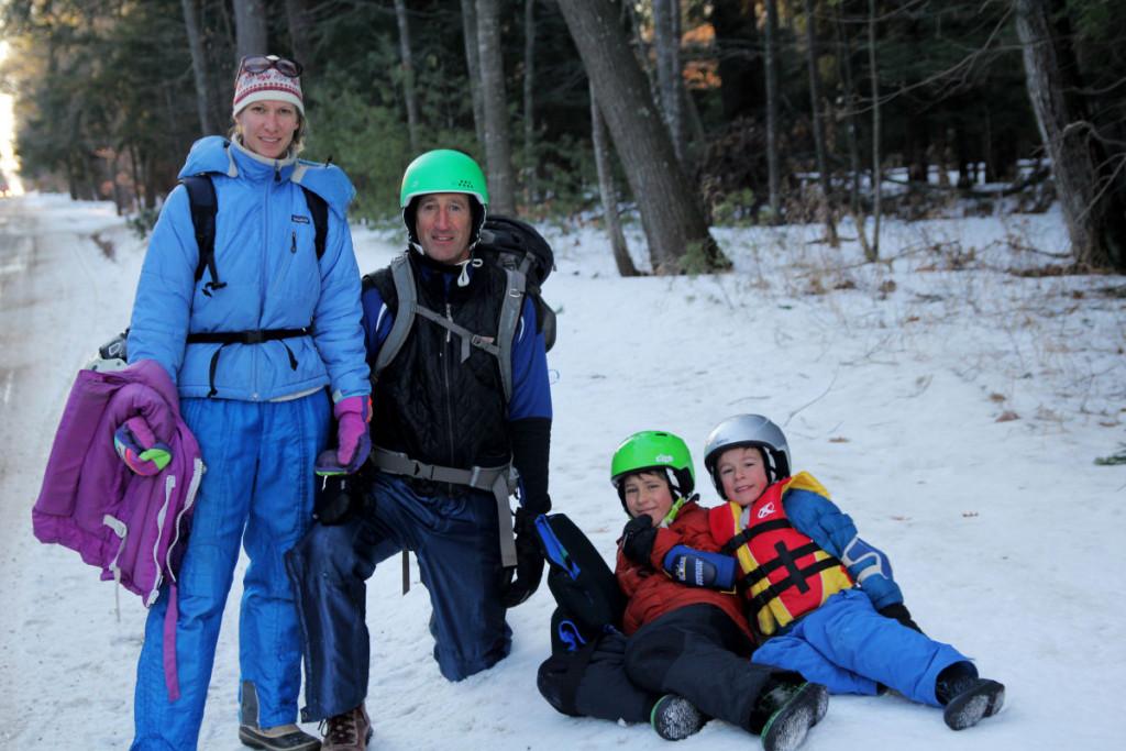 Steph, Bob, Hawthorn, Colebrook getting ready to Skate