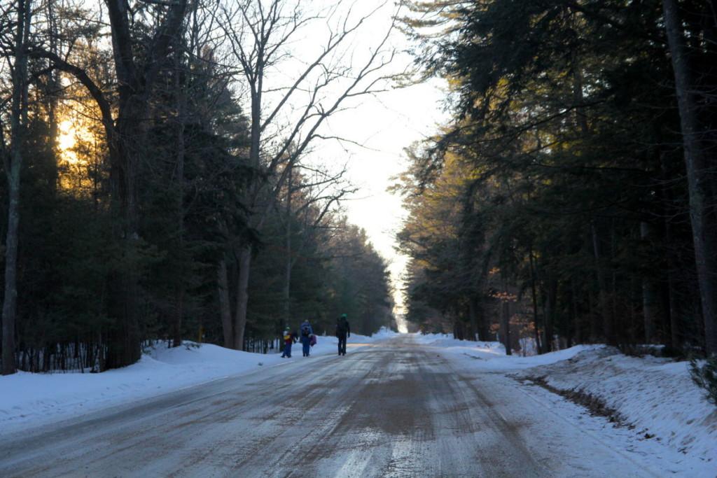 Walking down Lake Street