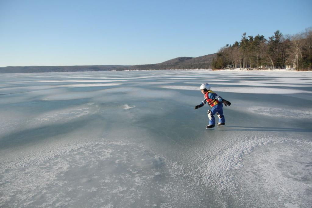 Ice Skating on Glen Lake