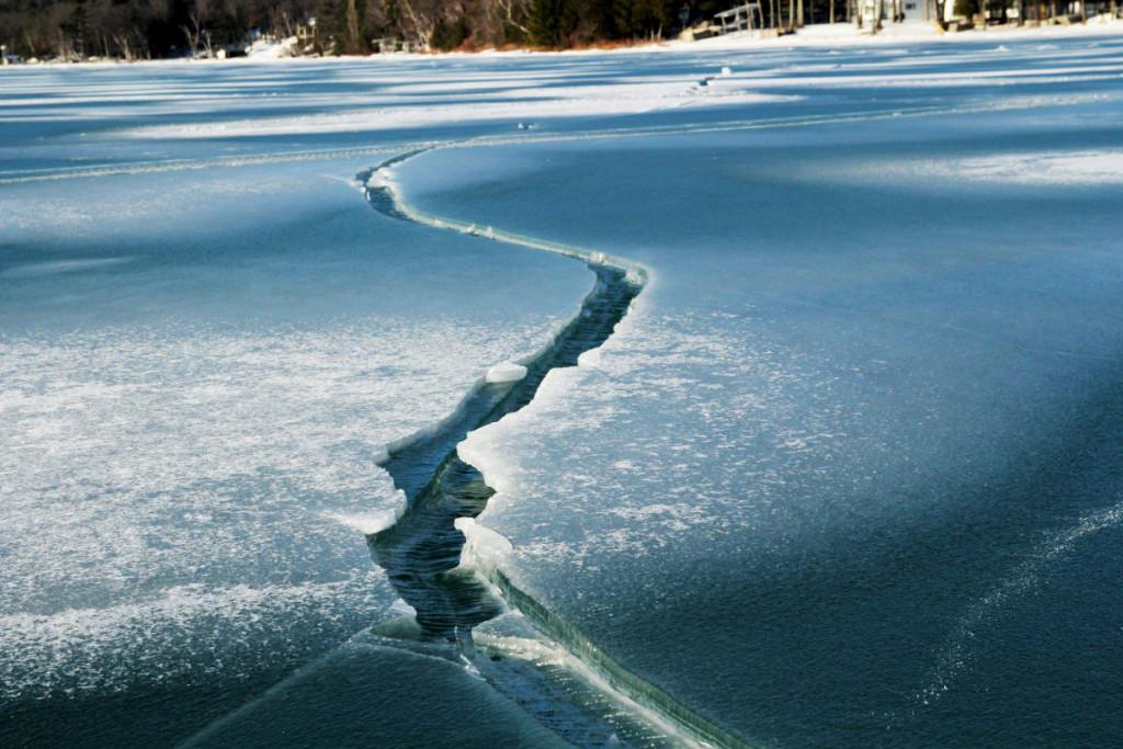 Shattered ice on Glen Lake