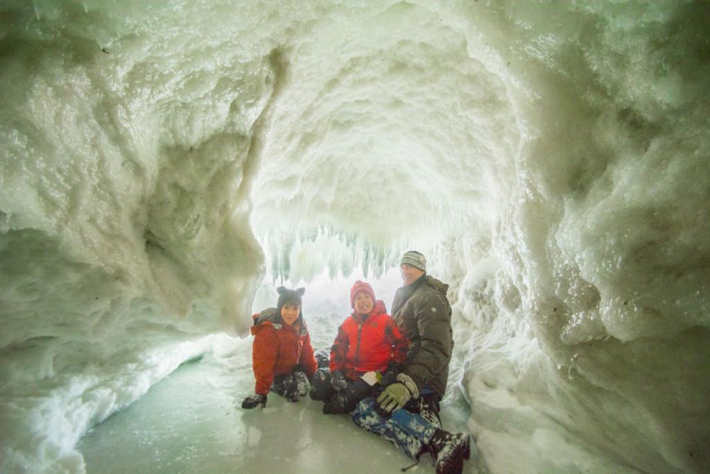 Inside a Lake Michigan ice cave