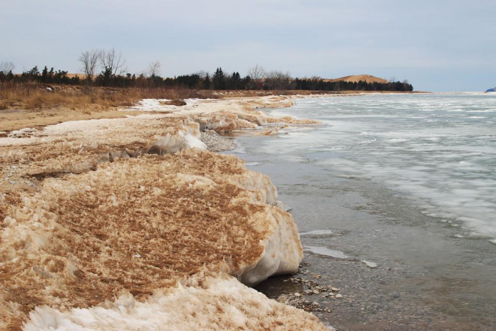 Ice on the Lake Michigan shore