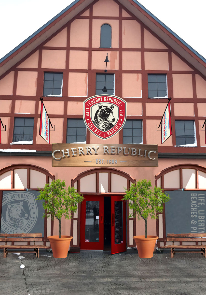 This is was one of the first mock ups of the front of the Cherry Republic Frankenmuth