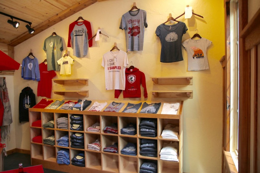 All of our new t-shirts nicely in their new home