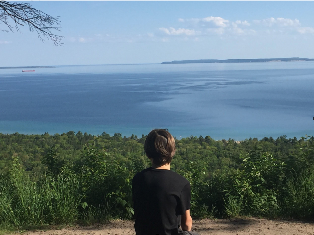 Colebrook looking over Lake Michigan